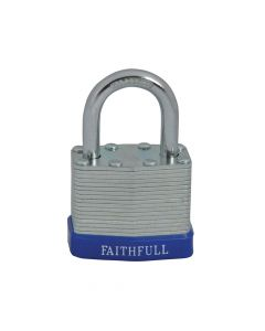 Faithfull Laminated Steel Padlock 40mm 3 Keys - FAIPLLAM40