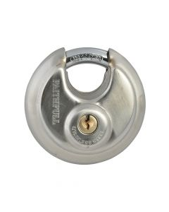 Faithfull Stainless Steel Discus Padlock 70mm - FAIPLSS70DIS