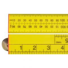 Faithfull Folding Rule Yellow ABS Plastic 1m / 39in - FAIRULEFOLD