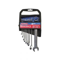 Faithfull Metric Chrome Vanadium Combination Spanner Set, 9 Piece - FAISPASETC9