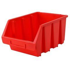 Faithfull Interlocking Storage Bin Size 4 Red 209 x 340 x 155mm - FAITBBIN4