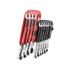 Facom Ratchet Combination Flexi Wrench Set, 10 Piece - FCM467BFJP10