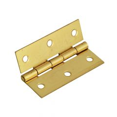 Forge Butt Hinge Brass Finish 65mm (2.5in) Pack of 2 - FGEHNGBTBP65