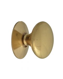 Forge Cupboard Knobs - Victorian Brass Finish 25mm Pack of 5 - FGEKNOBVBR25