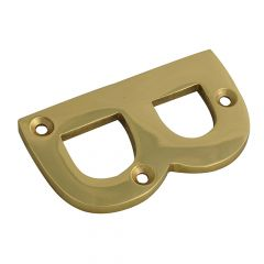 Forge Letter B - Brass Finish 75mm (3in) - FGENUMBBR75