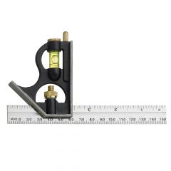 Fisher F411ME Combination Square with Aluminium Blade 150mm (6in) - FIS411