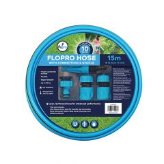 Flopro Hose 15m with Connectors 12.5mm (1/2in) Diameter - FLO70300011
