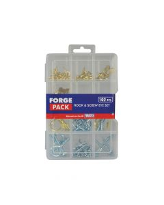 ForgeFix Hook & Screw Eye Kit ForgePack 102 Pieces - FORFPHESET