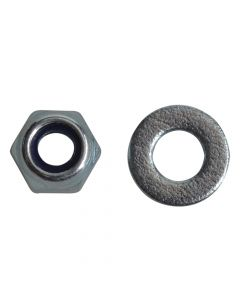 ForgeFix Nyloc Nuts & Washers Zinc Plated M4 Forge Pack 50 - FORFPNYL4