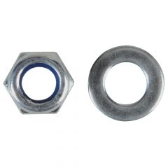 ForgeFix Nyloc Nuts & Washers Zinc Plated M5 Forge Pack 40 - FORFPNYL5