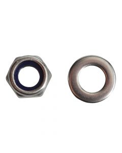 ForgeFix Nyloc Nuts & Washers A2 Stainless Steel M6 Forge Pack 20 - FORFPNYL6SS
