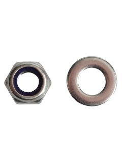 ForgeFix Nyloc Nuts & Washers A2 Stainless Steel M8 Forge Pack 12 - FORFPNYL8SS