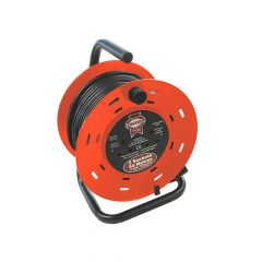Faithfull Open Drum Cable Reel 240 Volt 50 Metre 13 Amp 2 Socket - FPPCR50M