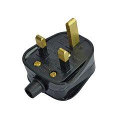 Faithfull Black Plug 240 Volt 13 Amp - FPPPLUG13R