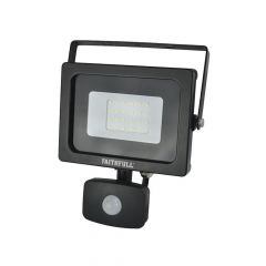 Faithfull SMD LED Security Light with PIR 20W 1600 Lumen 240V - FPPSLWM20S