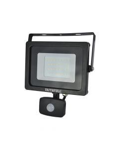 Faithfull SMD LED Security Light with PIR 30W 2400 Lumen 240V - FPPSLWM30S