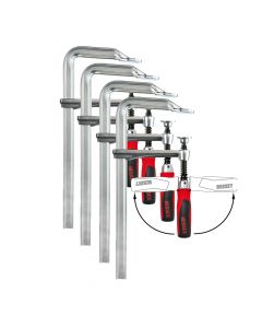 Bessey All-Steel Screw Clamp GZ25 with Swivel Handle - QUAD PACK