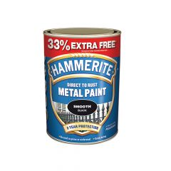 Hammerite Direct to Rust Smooth Finish Metal Paint Silver 750ml + 33% - HMMSFS750AV