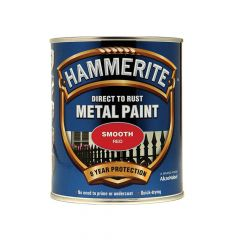 Hammerite Direct to Rust Smooth Finish Metal Paint Red 750ml - HMMSFR750
