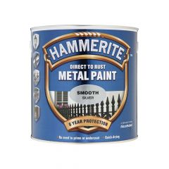 Hammerite Direct to Rust Smooth Finish Metal Paint Silver 2.5 Litre - HMMSFS25L
