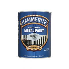 Hammerite Direct to Rust Smooth Finish Metal Paint White 250ml - HMMSFW250