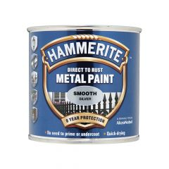 Hammerite Direct to Rust Smooth Finish Metal Paint Silver 750ml - HMMSFS750