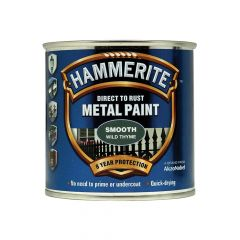 Hammerite Direct to Rust Smooth Finish Metal Paint Wild Thyme 250ml - HMMSFWT250