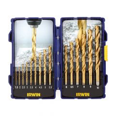 IRWIN HSS TiN Pro Drill Set 15 Piece - IRW10503991