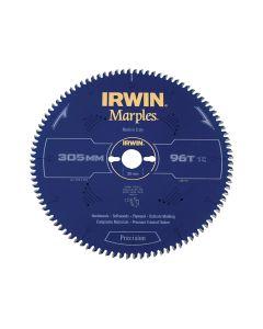 IRWIN Marples Mitre Circular Saw Blade 305 x 30mm x 96T HI-ATB/Neg - IRW1897467