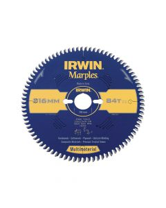 IRWIN Marples Multimaterial Circular Saw Blade 216 x 30mm x 84T TCG/Neg - IRW1897468
