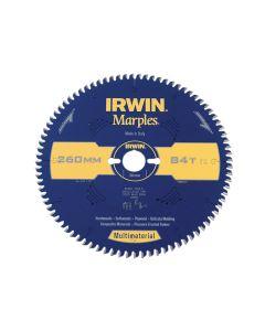 IRWIN Marples Multimaterial Circular Saw Blade 260 x 30mm x 84T TCG/Neg - IRW1897471
