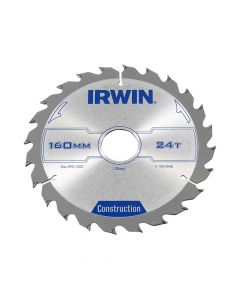 IRWIN Construction Circular Saw Blade 160 x 30mm x 24T ATB - IRW1907698