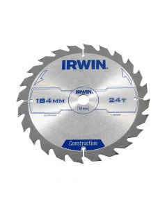 IRWIN Construction Circular Saw Blade 184 x 16mm x 24T ATB - IRW1907699