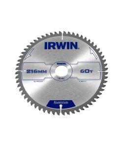 IRWIN Professional Aluminium Circular Saw Blade 216 x 30mm x 60T TCG - IRW1907777