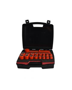 ITL Insulated Socket Set of 19 1/2in Drive - ITL03095