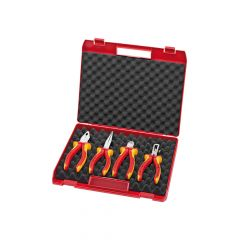 Knipex VDE Pliers Set In Case 4 Piece - KPX002015