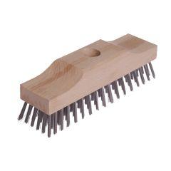 Lessmann Broom Head Raised Wooden Stock 6 Row 220mm x 60mm - LES148101