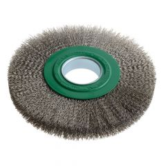 Lessmann Wheel Brush D200mm x W24-27 x 50 Bore Stainless Steel Wire 0.30 - LES365362