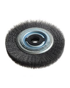 Lessmann Wheel Brush D200mm x W28-32 x 80 Bore Set 4 +1 Steel Wire 0.30 - LES366162