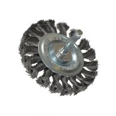 Lessmann Knotted Wheel Brush with Shank 75 x 8mm 0.35 Steel Wire - LES417168