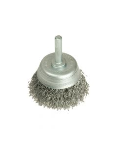 Lessmann DIY Cup Brush with Shank 50mm x 0.35 Steel Wire - LES43012307