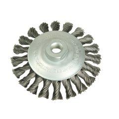 Lessmann Conical Knot Brush 115mm M14 Bore 0.50 Steel Wire - LES472257
