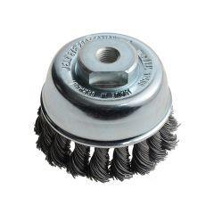 Lessmann Knot Cup Brush 65mm M10 x 0.50 Steel Wire LES482213 - LES482213