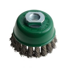Lessmann Knot Cup Brush 65mm M14 x 20 x 0.50 Stainless Steel Wire - LES482817