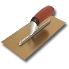 "Marshalltown Duraflex Trowel Golden Stainless Steel (Long Mounting) 16"" x 5"" - DuraSoft Handle - M4713DFDL"