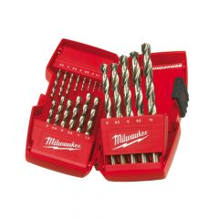 Milwaukee HSS-G THUNDERWEB Metal Drill Bit Set, 19 Piece 1-10mm - MIL2352374