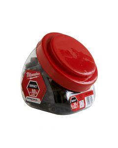 Milwaukee Impact Rated Magnetic Bit Holder Jar 100 Pieces - MIL430478