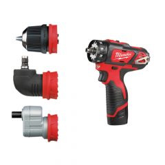 Milwaukee M12 BDDX KIT-202C Removeable Chuck Drill Driver 12V 2 x 2.0Ah Li-Ion - MILM12BDDXK