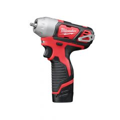 Milwaukee M12 BIW14-202C Sub Compact 1/4in Impact Wrench 12V 2 x 2.0Ah Li-Ion - MILM12BIW142