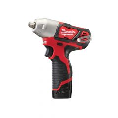 Milwaukee M12 BIW38-202C Compact 3/8in Impact Wrench 12V 2 x 2.0Ah Li-Ion - MILM12BIW382